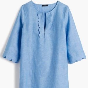 J Crew linen scalloped cover up, 👍🏻 condition!